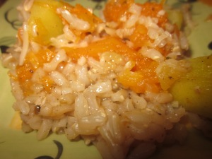 Baked Winter Squash and Rice
